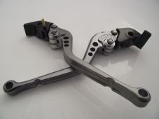 Honda CBR600RR CNC levers long titanium & chrome adjusters 2003-2006, F29/Y688